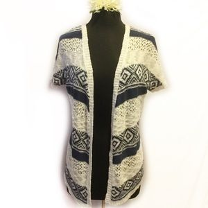 Cloud Chaser Blue & White Light Cardigan XS